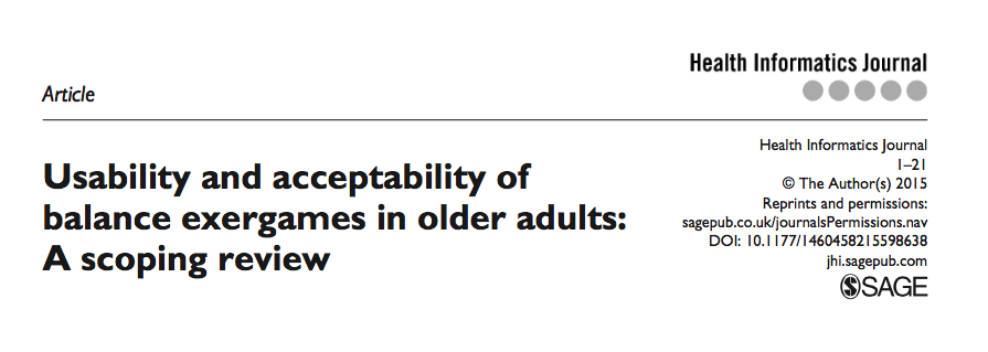 Usability and acceptability of balance exergames in older adults, A scoping review