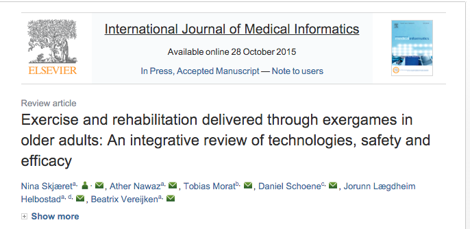 exergames and rehabilitation integrative review